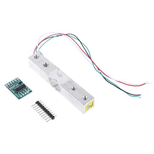Lhuaguo AD-Gewichtssensor für Lademodul 5 kg Verstärker HX711 Digital tragbar für Arduino Raspberry Pi, DIY
