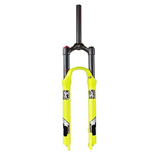 """VPPV MTB Forcella Ammortizzata 26 27,5 29 Pollici, Controllo Spalle 1-1/8"""" Ammortizzatore per Bici Steerer Fork Corsa 130 mm Sospensioni (Colore : Shoulder Control-A, Size : 26 in)"""