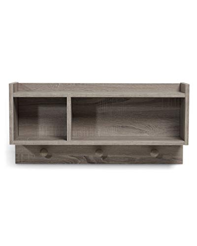 Mamas & Papas Franklin Shelf for Childrens Bedroom, Nursery Furniture - Grey Wash