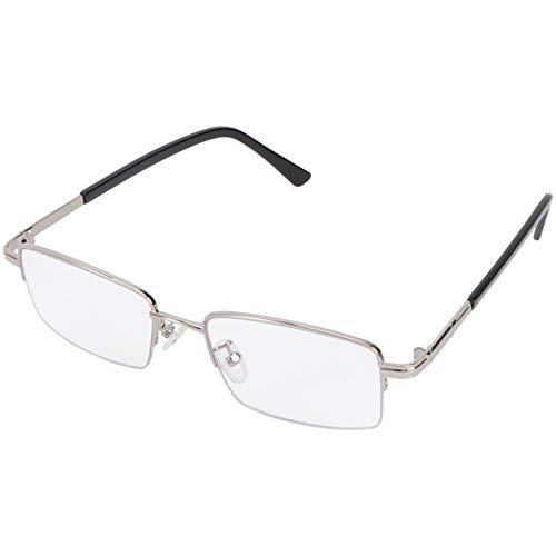 EXCEART Smart Zoom Óculos de Leitura Anti Luz Azul Multi Leitor de Óculos de Leitura Aro Foco Multifocal Óculos de Metal (1. 5) para O Homem E As Mulheres