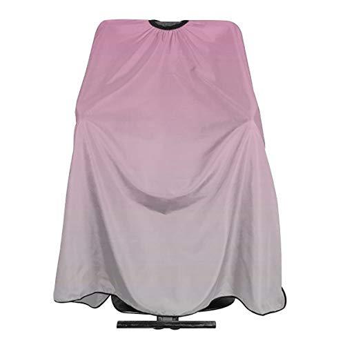 Delantal de corte de pelo rosa y gris resistente al agua, para hombres, mujeres, adultos, corte de pelo antiestático, 55 x 66 pulgadas