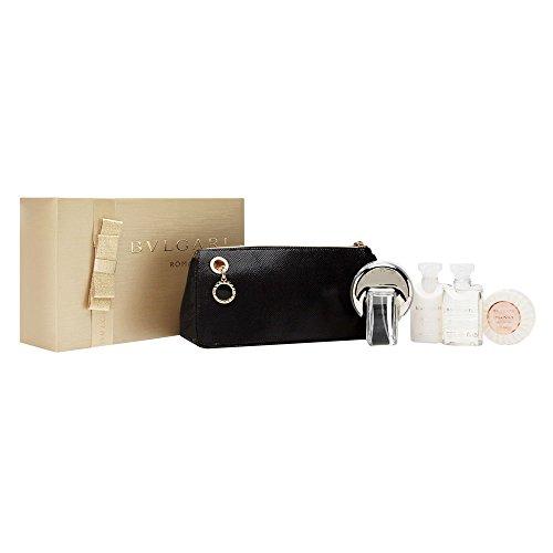 Bvlgari Omnia Crystalline Geschenkset für Sie (EdT Spray 65ml, Bodylotion 40ml, Duschgel 40ml, Seife 50g + Tasche)