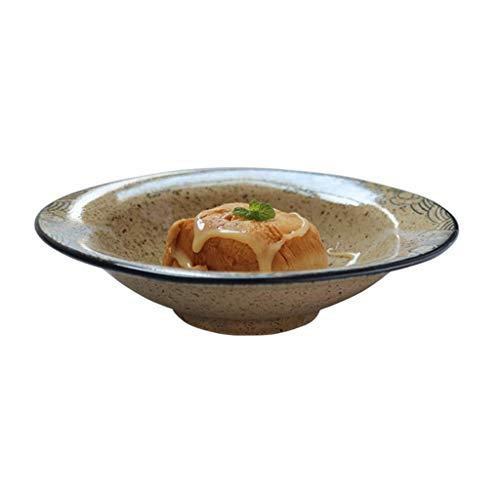 Ceramic Bowl Breakfast Cereal Bowl Ceramic Bowl of Instant Noodles Bowl of Japanese Ramen Bowl Home Complex Gu Shala Bowl of ice Cream Dessert Dish Fruit Bowl Creative