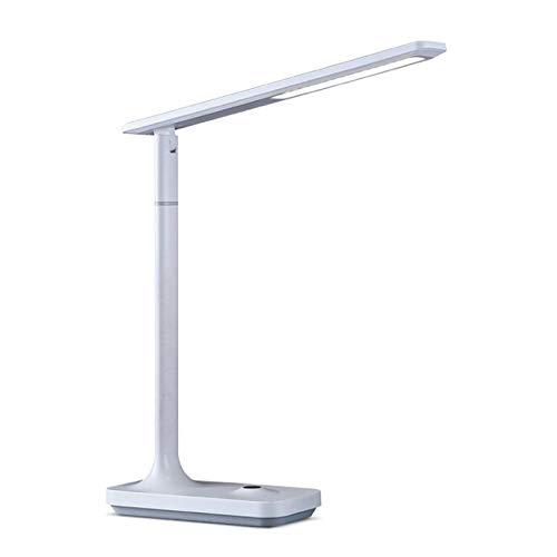 lámpara de mesita de noche Lámpara de escritorio LED con lámparas de escritorio de puerto de carga USB con brillo de 3 niveles ajustable para la oficina casera 4000k Lámpara de lectura de luz blanca c