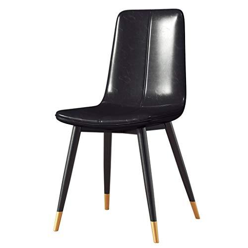 HEJINXL eetkamerstoelen leder smeedijzer antislip voeten keuken woonkamer stoel lounge bureaustoel ondersteuning meer dan 200 kg