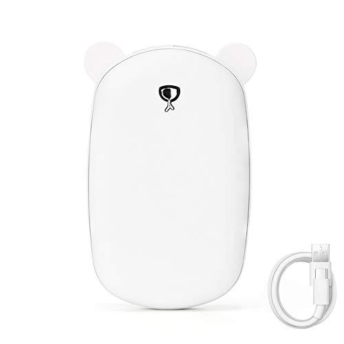 Hbsite Scaldamani 6000mAh Scaldamani Ricaricabile, Scaldamani tascabili USB Portatili riutilizzabili Power Bank Scaldamani Portatile Invernale Regali per Donne e Uomini