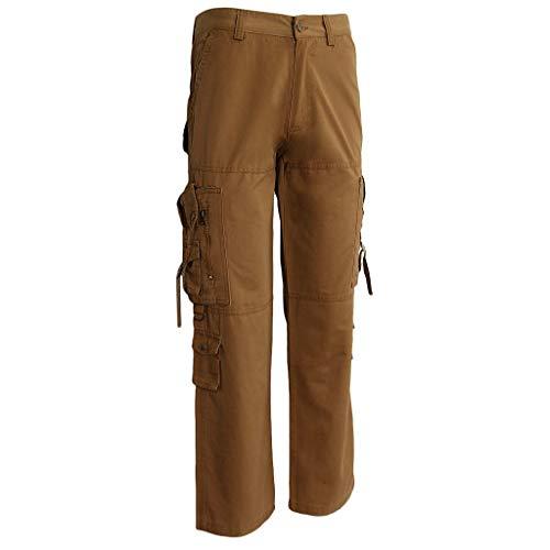Heren veel cargobroek met werkbroek tas katoen chic broek Cargo jogging pants vrijetijdsbroek trekkingbroek