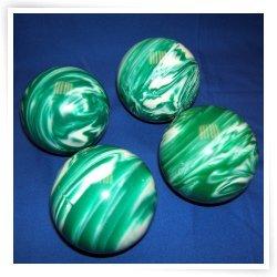 BuyBocceBalls Premium Quality EPCO 4 Ball 107mm Tournament Bocce Set - Marbled Green/White ...