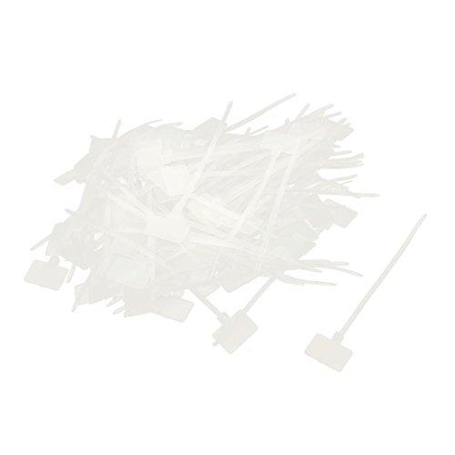 uxcell タグジップタイ ケーブルタイ ナイロン製マーカーの配線タイ パワーケーブル 100個 - uxcell