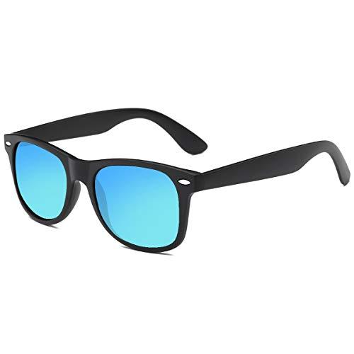 Polarized Sunglasses for Men Retro - FEIDU Polarized Retro Sunglasses for Men FD2149 (4.2-black/bright)