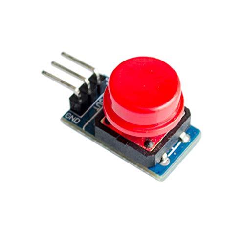 XUQIANG 20pcs / Lot 12x12mm Módulo de Teclas Grande Módulo de botón Grande Módulo de Interruptor de Interruptor de luz con Sombrero de Salida de Alto Nivel Traje de módulo