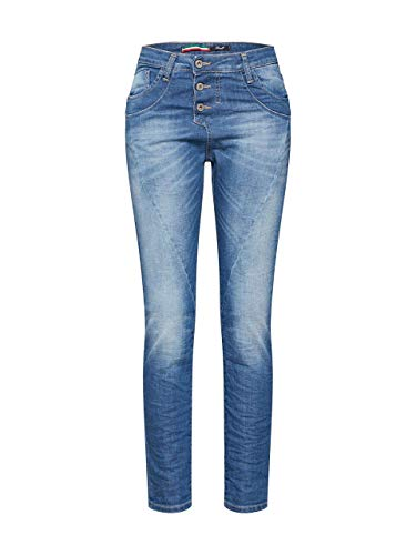 Please Damen Boyfriendhose P78A BQ2EOT Blue Denim, Größe:XXS, Farbe:1670 blu Denim