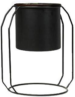 YWH-WH Designed Metal Flower Pot with Stand Planter Garden Home Office Balcony Decor Flower Display Rack Holder Flowerpot ...