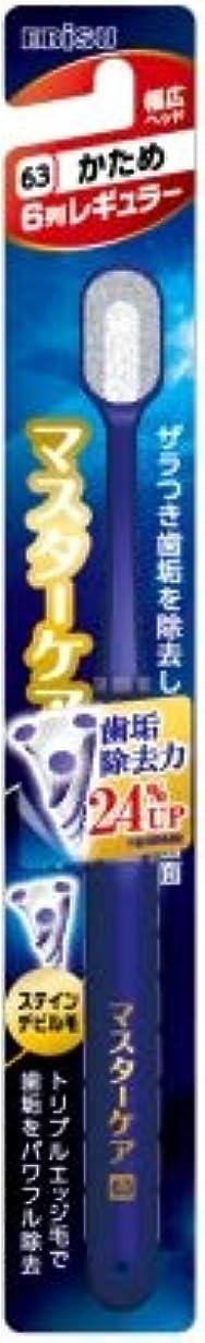 妥協突進致命的な【まとめ買い】マスターケアハブラシ?6列レギュラー かため ×6個