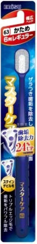 証人民族主義インゲン【まとめ買い】マスターケアハブラシ?6列レギュラー かため ×3個