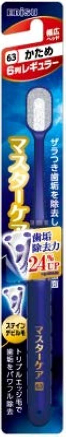 広告主メダルかご【まとめ買い】マスターケアハブラシ?6列レギュラー かため ×3個