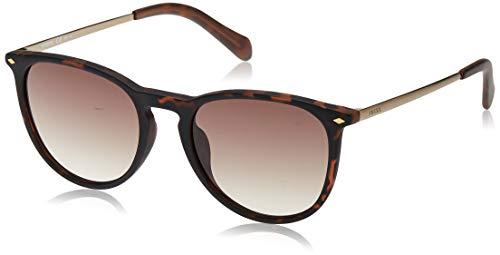 Fossil Damen FOS 3078/S Sonnenbrille, Braun (DKHAVANA), 53