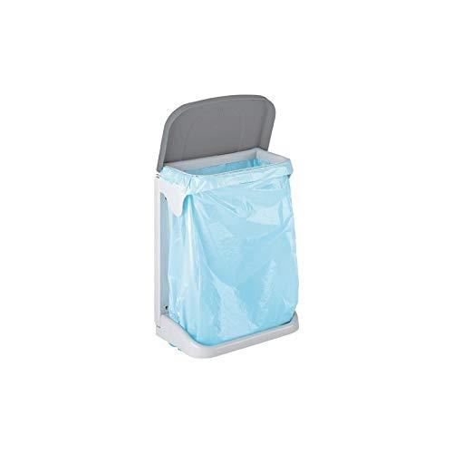 Meliconi - Cubo de Basura ecológico - Ideal Debajo del Fregadero y para la Recogida selectiva - Material plástico - Color Blanco y Gris - Medidas 28 x 38 cm. Fabricado en Italia. Color: Blanco/Gris.