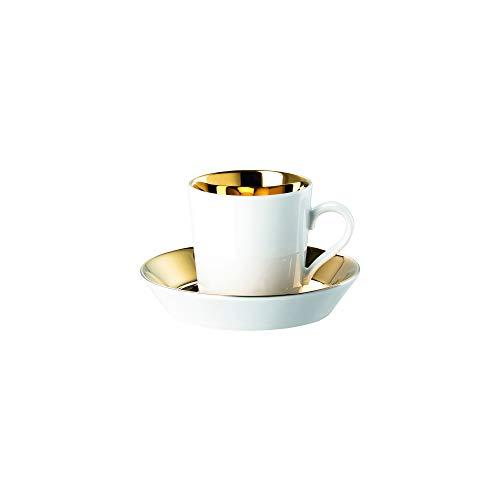 Arzberg Rosenthal Tric - Gold titanisiert - Espresso/Mokkatasse - Porzellan - 2-teilig