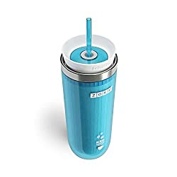 Best Travel Mug For Iced Coffee - Zoku Teal Iced Coffee Maker