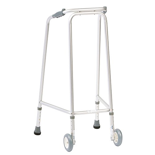 NRS Ultra Narrow Walking Frame (Wheeled) N73223 Adjustable Height - Medium (Eligible for VAT relief in the UK)
