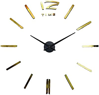 RUEbahl 3D Home Decor DIY Digital Large Wall Clock Modern Design Horloge Wall Watch Living Metal