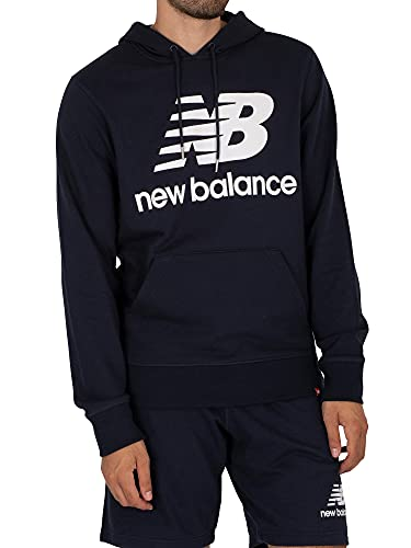 New Balance Essentials Stacked Logo Pullover Hoodie Total Classics-Sudadera, Eclipse 20, M para Hombre