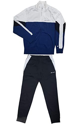 Champion Jersey Trainingsanzug Art.216030 Farbe BS510 weiß/blau, Mehrfarbig XXL