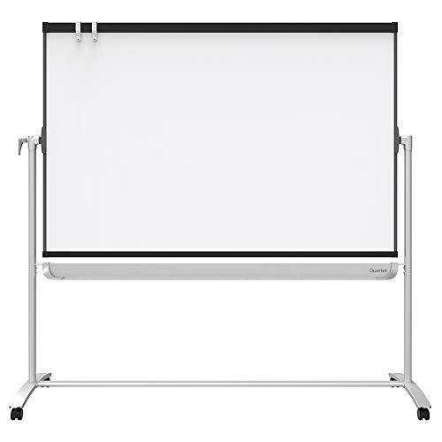 Quartet Easel, Magnetic, 6' x 4', Reversible, Whiteboard/Flipchart, Prestige 2 Mobile Presentation, Graphite Frame (ECM64P2)