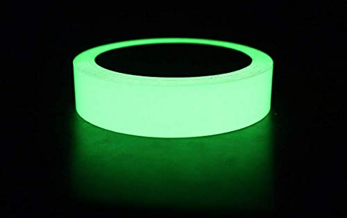 DVN Removable, Waterproof, Photoluminescent Glow in the Dark Safety Green Tape (20 ft Length x 0.8 inch Width)