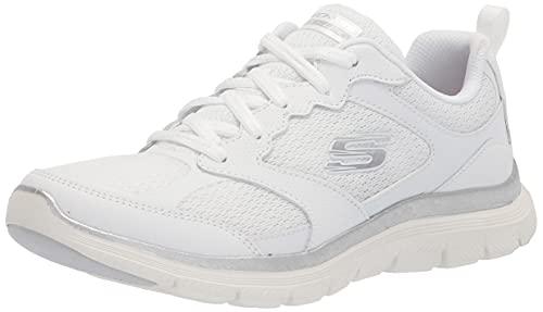 Skechers Damen Flex Appeal 4.0-Active Flow Sneaker, Weiß, 41 EU