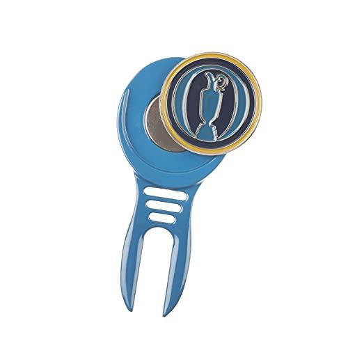 The Open | Offizielles Merchandise-Produkt | Pitchgabel-Reparaturwerkzeug | Markenminiatur Pitchgabel Cool-Tool | inkl. magnetischem abnehmbarem Ballmarker | Golfballmarker | Golfzubehör