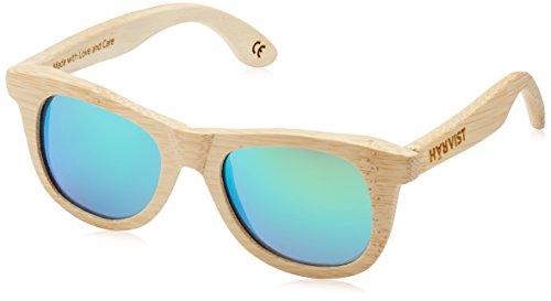 HÄRVIST Unisex - Erwachsene Sonnenbrillen Waywood , mehrfarbig (bambú / verde), größe Einheitsgröße