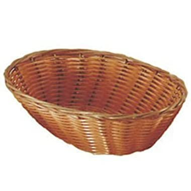 Set of 4 Update International BB-97 Woven and Bread Natural Color Basket, Oval, 9-1/2-Inch