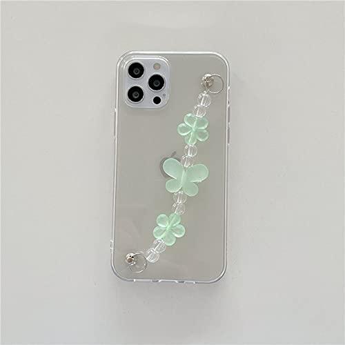 Caja del teléfono de la Pulsera de la Cadena Cruzada de la Mariposa para el iPhone 12 11 Pro MAX X XR XS MAX 7 8 Plus SE2020 Contraportada del teléfono a Prueba de Golpes, PH4407H03, para iPhone X o