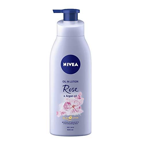 NIVEA Body Lotion, Oil in Lotion Rose & Argan Oil, For Dry...