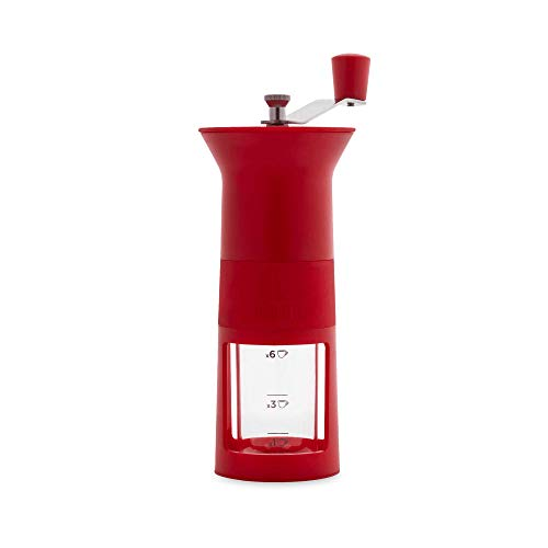 Bialetti Coffee Grinder 1-6 Cups, Red