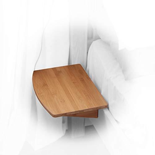 Nachttisch Nachtschrank, Nachtkonsole Regal aus Bambus (Natural, Clips 21mm)