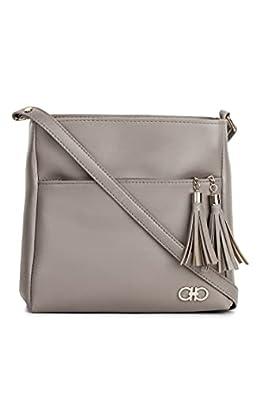 GLOSSY Women's Large Size Sling Bag (Khaki)