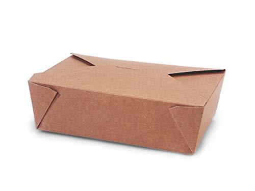 Bio Pak Take Out Boxes - #3 Bio Plus Earth Recycled Kraft 8-1/2x6-1/4x2-1/2 (200 Boxes) - WRAPS-EA3BP