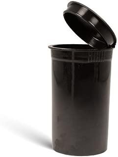 19 Dram Squeeze Pop Top Prescription Container Pill Bottle Tubes Doob Rx (50 Count, Black)
