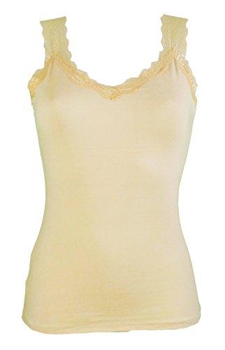 Miss Rouge Trägerhemd mit Spitze Gr. One size, beige