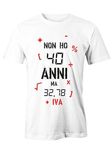 Puzzletee T-Shirt Compleanno Non Ho 40 Anni ma 32,78 + Iva - Idea Regalo - Magliette Simpatiche e...