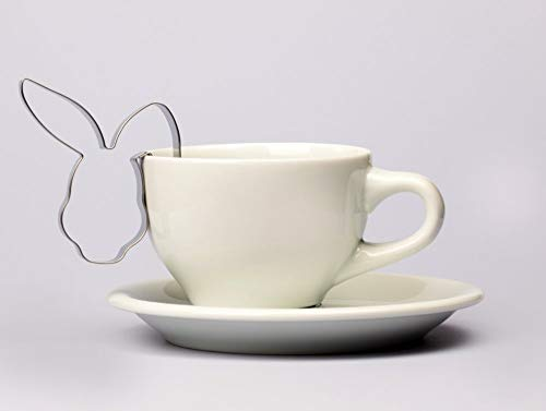 Hasengesicht Tassenkeks 7 cm Ostern Ausstecher, Ausstechform aus Edelstahl
