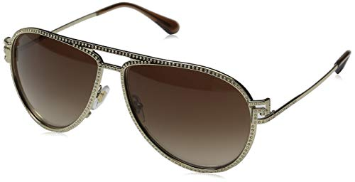 Versace Damen VE2171B Sonnenbrille, Gold (Gold / Brown gradient), 59