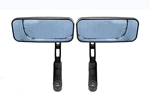 1 par de accesorios de scooter de extremo de barra redonda cromado de motocicleta de 10mm espejo retrovisor lateral ajustable para Cafe Racer-carbon_fiber