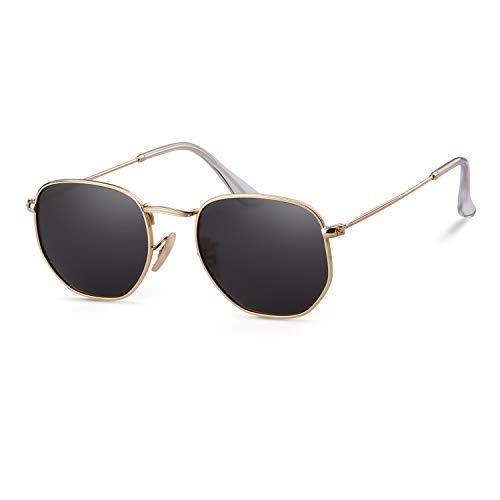 GIFIORE Hexagon Sonnenbrillen Polarisiert Quadrat Sonnenbrillen für Frauen Männer