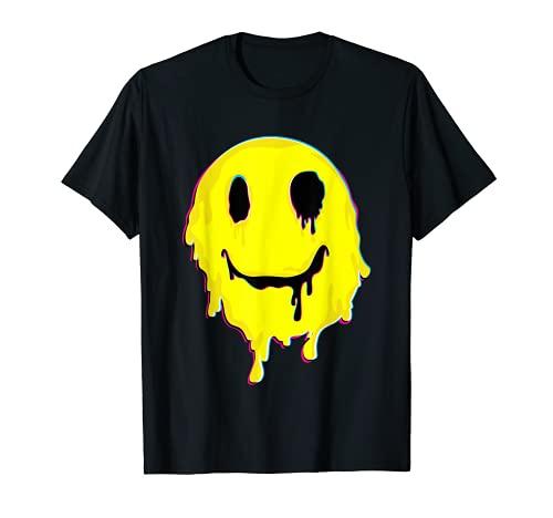 Melting Smiley Face Tshirt T-Shirt
