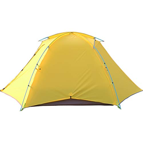Instant Tent 2 Person Easy Set Up Double Layer Waterproof 3 Season Camping Tent for Outdoor Hiking Fishing (Color : Yellow)