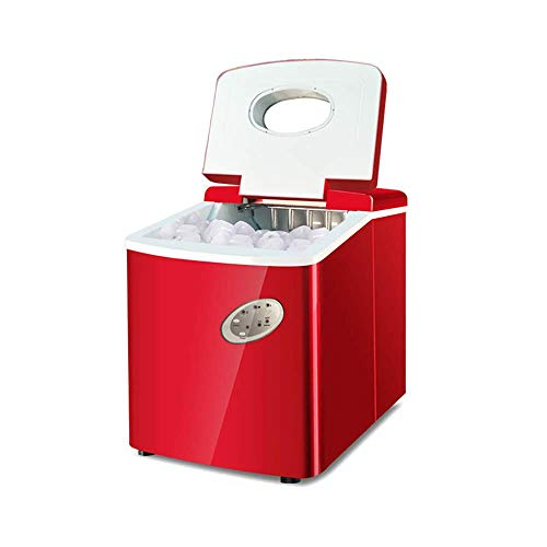 Leo2020 Portable Ice Maker for Countertop, 40LBS/24H Electric Ice Making Machine with Ice Scoop, Ice Cubes Ready in 6-10 Mins, Electric High Efficiency Express Clear Operation Control Panel